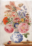 """Flowers Atlas Obsura """"Chinese vase with Roses, Poppies, and Carn"""