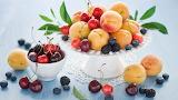 cherries and fruit.......................................x