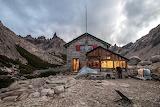 Andean refuge Frey Cerro, Patagonia, Argentina