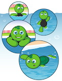 Tiki the Turtle Learns to Swim!