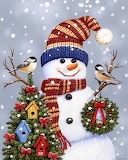 Snowman-with-wreath