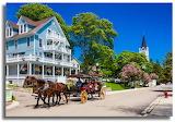 Mackinac Island Lilac Season Carriage Ride by Jimmy Taylor