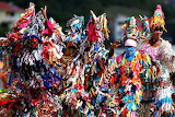 Very Colorful Dressing St Lucia Island West Indies