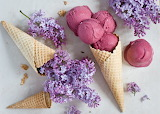 helados y flores