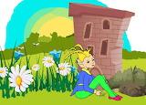 Leprechaun elf garden flowers