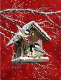 Birds snowy day