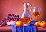 #Fruit and Wine Still Life