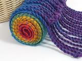 ^ Handwoven Rainbow Cascade scarf