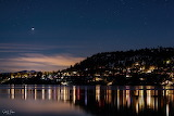Jupiter-Saturn conjunction over Tahoe by Scott Taylor