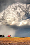 Red Barn and Thunder Storm
