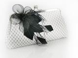Black & White Bridal Clutch