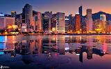 Hong Kong view sunset