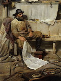 Fisherman by Frank Richards R.B.A.