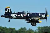 Corsair WWll and Korean War Navy Fighter Plane