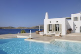Luxury white rustic style Greek villa and pool