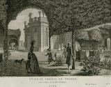 Vue du château de Trianon, gravure de Louis Morize, cote 121J147