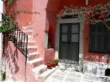 House entrance in Halki village, Naxos, Greece