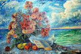 Bouquet By The Sea, 1960 - David Burliuk