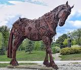 Horse Sculpture iron pieces