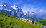 Train bernese alps switzerland