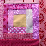Pink block, patchwork