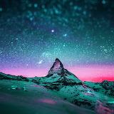 Night Stars Over The Matterhorn...