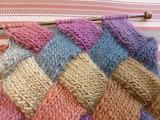 ^ Entrelac scarf pattern