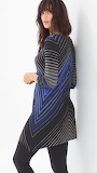 LIVE. LOUNGE. WEAR. Long Sleeve Scarf Hem Tunic Renewed Stripe R