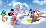 Minnie-and-Mickey-Mouse-Winter-snow-fence-yard-blue-sky-winter-c