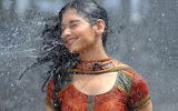 Beautiful Indian girl happy and drenched in rain-Bing-Images