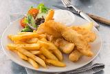 ^ Beer Battered Fish & Chips