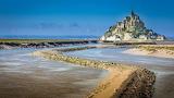 Mont Saint Michel vue marais bas