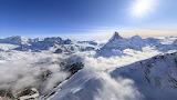 The Pennine Alps near Zermatt. Switzerland