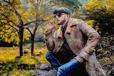 Man, model, coat, jeans, hat, glasses