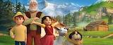 Peter, Grand-père, Heidi, biquette et Hercule