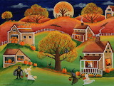 Halloween Autumn Moon by Cheryl Bartley