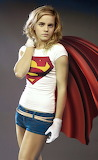 Emma Watson in Supergirl shirt