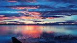 Amazing blue sunset nature 2016.08.05