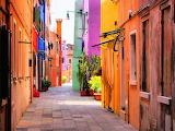 Burano, picturesque island in the lagoon of Venice