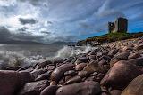 Minard Castle Stormy Beach Ireland