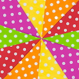 Colorful polka dots textile