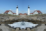 Mirror image lighthouse effect