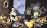 Cookmaid with Still Life of Vegetables and Fruit - Nathaniel Bac