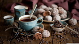 Gingerbread coffee-wallpaper-1366x768