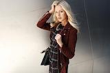 Maroon Plaid Fashion Style Shea Marie Steve Madden Campaign