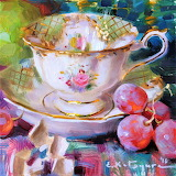 Tuesday Teacup Still Life by Elena Katsyura