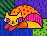 'Romero Britto Cat'...@ artprojectsforkids.org...