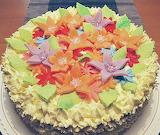 Flowery cake @ Belle Dolci