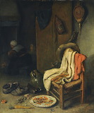 Domestic Interior with Still Life by Esaias Boursse