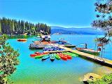 Boat on Shaver Lake Callifornia USA